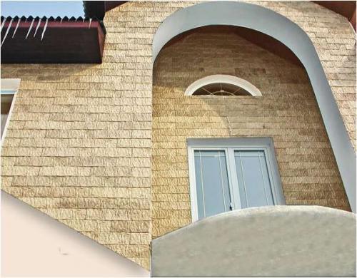 Дом, обналиченный сайдингом из бетона