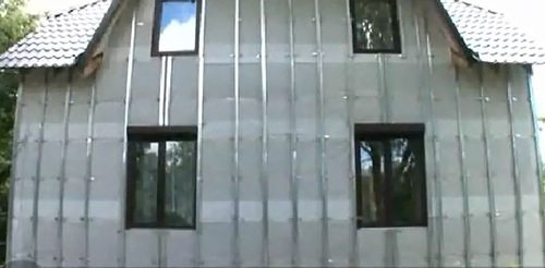 вертикальная обрешётка из профиля CD