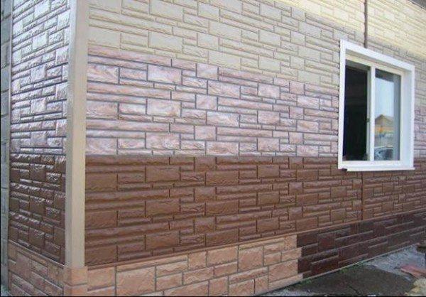 Доломитовый сайдинг под камень – фото фасада дома.