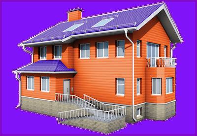 Смелое цветовое решение выделит ваш дом.