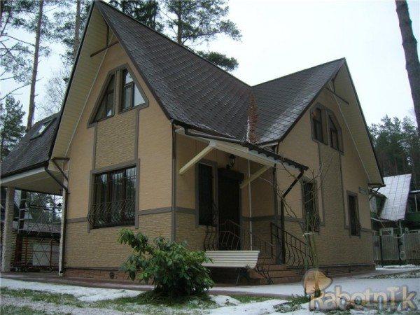 Дом, отделанный фибросайдингом