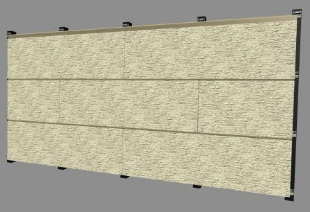Монтаж панелей на фасаде