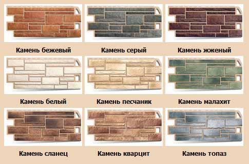 Разновидности панелей цокольного сайдинга