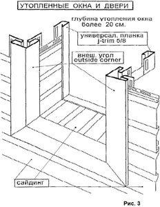 Монтаж отделки с откосами более чем двадцать сантиметров