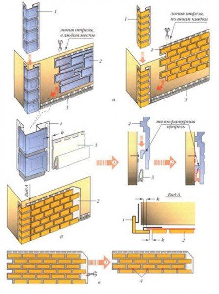 Схема крепления фасадного сайдинга