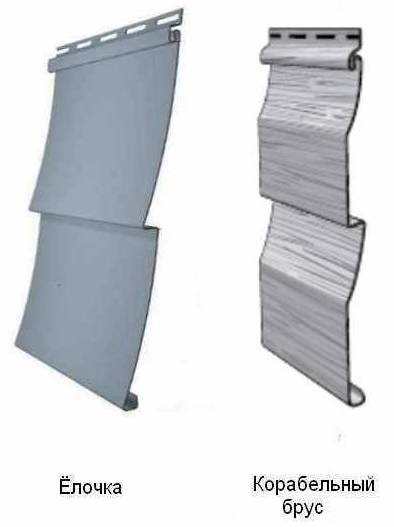 Металлический сайдинг бывает тех же форм что и виниловый – Елочка, Корабельная доска и Блок хаус.