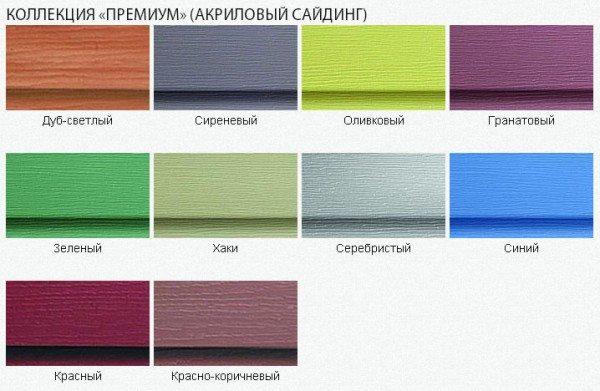 Цвет и фактура панелей сайдинга из акрила