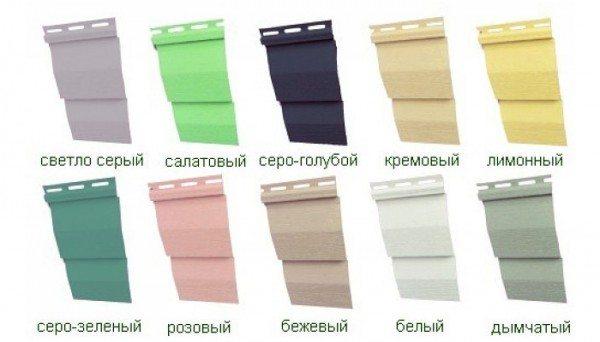 Выбор цвета сайдинга – творческий процесс