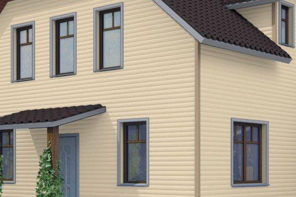 На данном фото показан дом, выгодно обшитый сайдингом от производителя «ФайнБир»