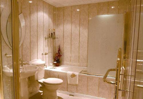 Новый санузел - сайдинг в ванной комнате