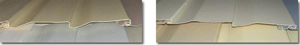 Слева на фото – качественная панель, справа – некачественная