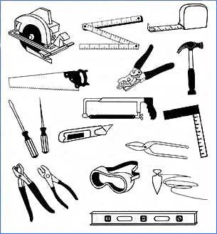 Инструменты для осуществления монтажа.