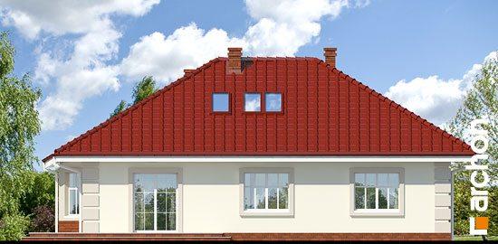 Проект белого дома с красной кровлей.