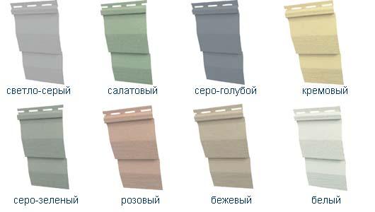 Разнообразие цветов сайдинга