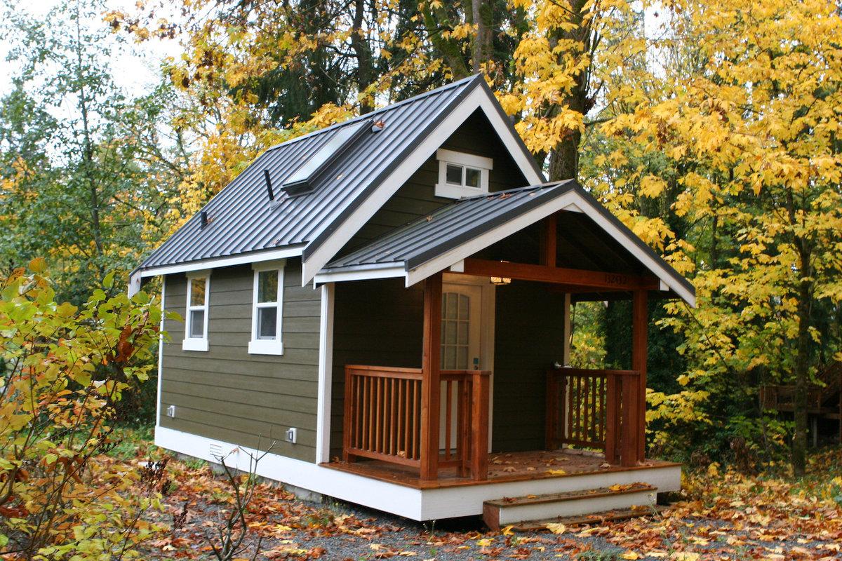 Чем популярны маленькие каркасные домики?