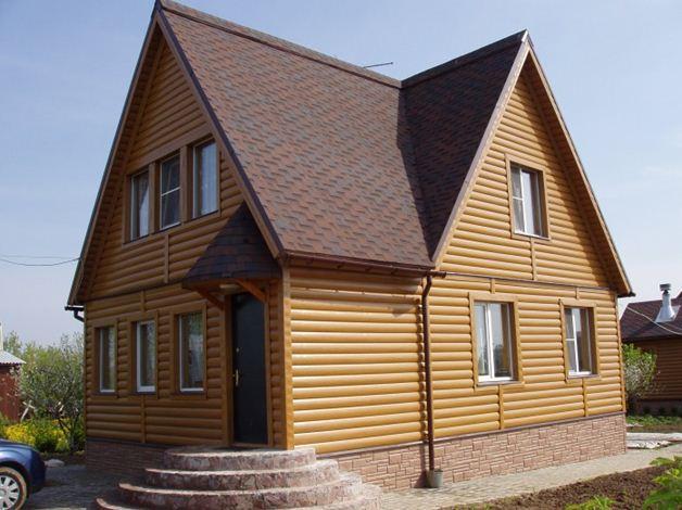 Сайдинг «блок хауз» - эффективная имитация бревенчатого дома