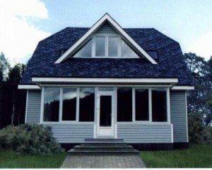 Широкая веранда, многоуровневая крыша – индивидуальное цветовое решение