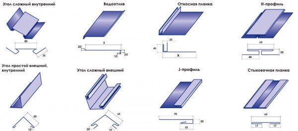 Дополнительные элементы для металлосайдинга
