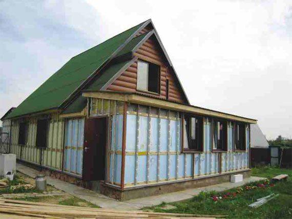 Создание каркаса и утепление дома