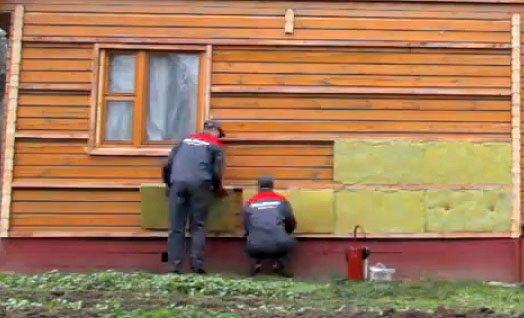Сайдинг с утеплителем на деревянный дом