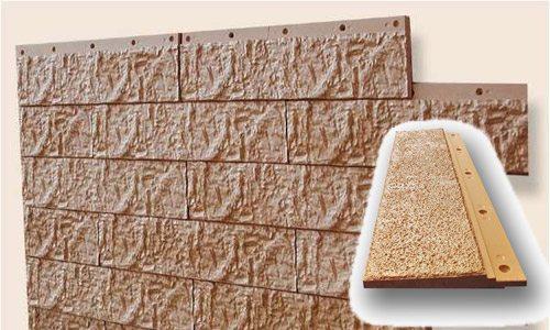 Цементный сайдинг, имитирующий поверхность природного камня