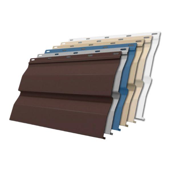 Цветовая гамма позволяет подобрать панели под любой экстерьер дома.