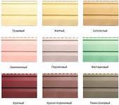 Основные цвета и фактуры винилового сайдинга
