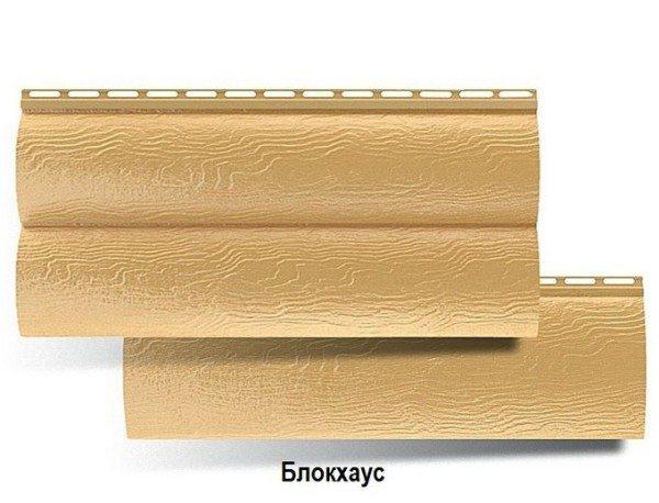 Золотистый блок хаус – сайдинг 3.1х0.34